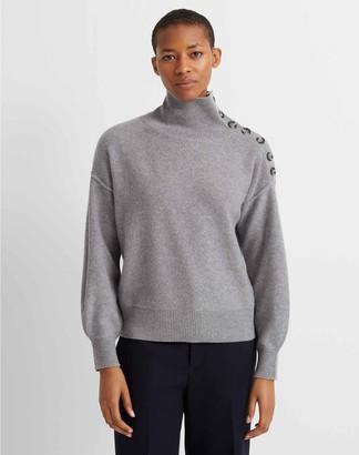 Club Monaco Button-Neck Cashmere Sweater