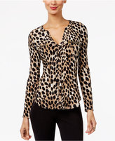 INC International Concepts Printed Zip-Detail Top, Only at Macy's