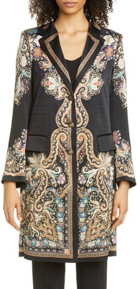 Etro Paisley Silk Longline Jacket