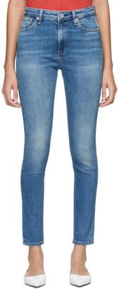 Rag & Bone Blue Nina High-Rise Skinny Jeans