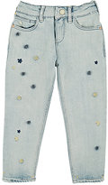 Scotch R'Belle POM-POM-EMBROIDERED JEANS-BLUE SIZE 10