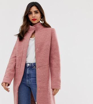Vila funnel neck coat-Pink