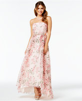B. Darlin Juniors' Floral-Print A-Line Gown