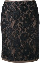 GUILD PRIME straight lace skirt - women - Rayon - 34