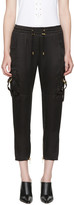 Balmain Black Sateen Cargo Pants