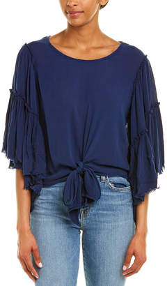 Band of Gypsies Tie-Front Gauze Top
