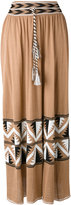 Laneus rope tie printed skirt