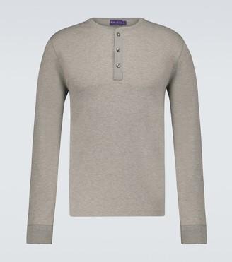 Ralph Lauren Purple Label Long-sleeved Henley T-shirt