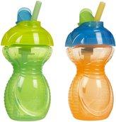 Munchkin Flip Straw Cup - Orange/Green - 9 oz - 2 ct