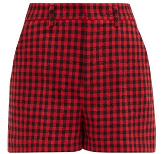 RED Valentino High-rise Houndstooth Shorts - Red