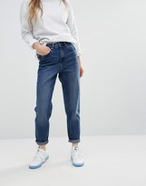 WÅVEN Elsa Mom Jeans in Dark Blue