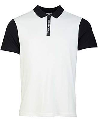 Armani Exchange A|X Men's Polo Shirt with Colorblocked Collar