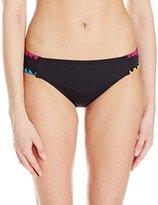 Lucky Brand Women's Night Dreamer Shell Stitch Tab Side Bikini Bottom