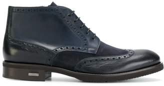 Baldinini contrast panel ankle boots