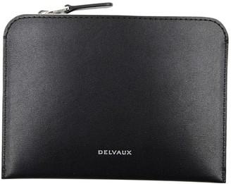 Delvaux Signature zip around Black Leather Wallets