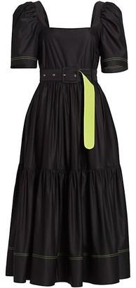 Tanya Taylor Delilah Short Puff-Sleeve Dress