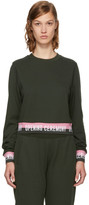Opening Ceremony Green Elastic Logo Cropped Sweatshirt