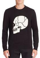 The Kooples Contrasting Skull Jacquard Pullover