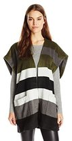 Lucky Brand Women's Striped Poncho