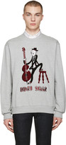 Dolce & Gabbana Grey Embroidered Cello Player Pullover