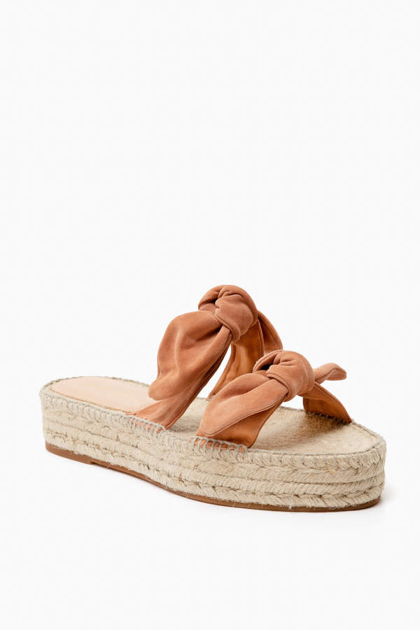 fa67958b767 Coquille Two Bow Espadrille Platform Sandals