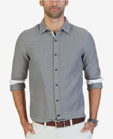 Nautica Men's Slim-Fit Naviator Tweed Shirt