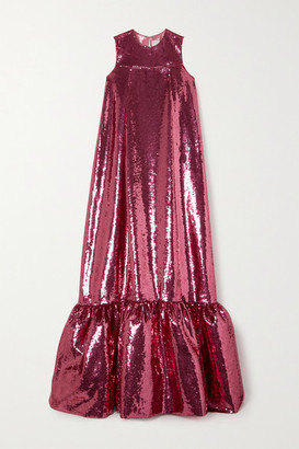 Huishan Zhang Genevieve Sequined Tulle Gown - Pink
