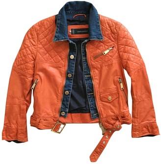 DSQUARED2 Orange Leather Jacket for Women