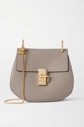 Chloé Drew Textured-leather Shoulder Bag - Gray