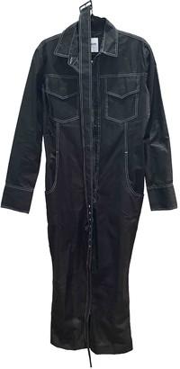 Orseund Iris Black Cotton Jumpsuit for Women