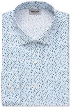 Kenneth Cole Reaction Men's Slim-Fit Patterned All-Day Flex Performance Dress Shirt