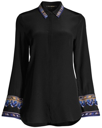 Kobi Halperin Monica Embroidered Sleeve Blouse