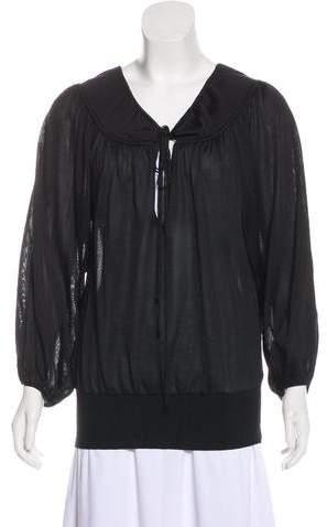 Tom Ford Silk Long Sleeve Blouse