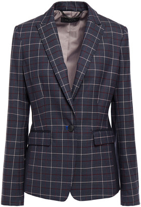 Rag & Bone Paneled Checked Wool-blend Felt Blazer