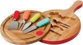 Fiesta 4-pc. Multicolor Cheese Tool & Swivel-Top Board Set