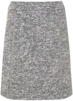 Mint Velvet Grey Textured Zip Detail Skirt