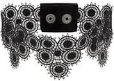 Manokhi stud detail lace choker