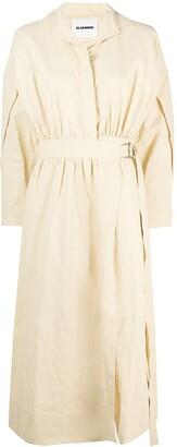 Jil Sander Belted Wrap Dress