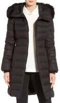 Soia & Kyo Genuine Fox Fur Trim Quilted Long Down Coat