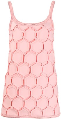 Marco De Vincenzo Hexagon Pattern Shift Dress