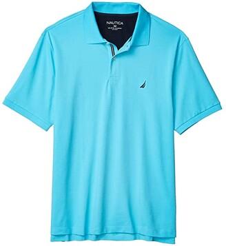 Nautica Big Tall Short Sleeve Solid Deck Shirt (Blue 2) Men's Short Sleeve Knit