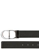 Christian Dior 35mm Reversible Patina Leather Belt