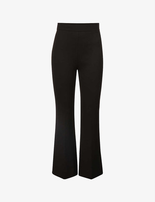 Victoria Victoria Beckham Flared high-rise stretch-woven trousers