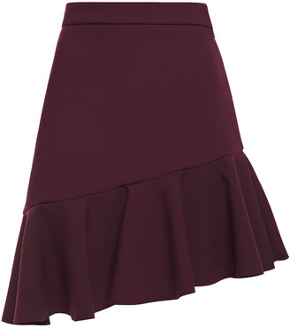 MSGM Asymmetric Crepe Mini Skirt