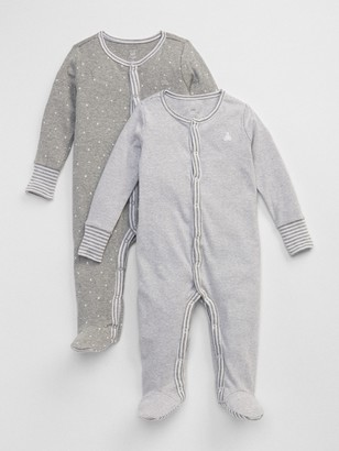 Gap Baby First Favorite Stripe Footed One-Piece (2-Pack)