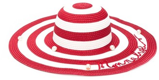 MonnaLisa Striped Woven Hat