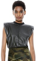 Thumbnail for your product : Alice + Olivia Kendrick Vegan Leather Top