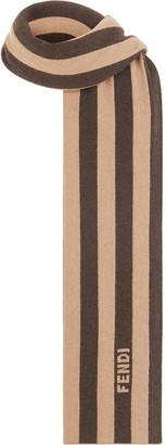 Fendi Cashmere Striped Scarf