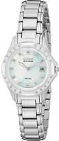 Citizen EW2130-51D (Stainless Steel/Diamonds/Mother of Pearl) - Jewelry