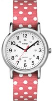 Timex Women's Weekender Polka Dots | Pink Strap Silver-Tone Case Watch TW2P65600